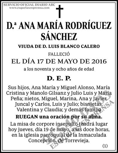 Ana María Rodríguez Sánchez
